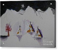 Christmas Teepees Acrylic Print by James SheppardIII