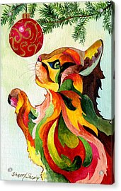 Christmas Tempation Acrylic Print by Sherry Shipley