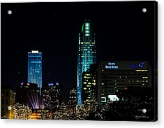 Christmas Time In Omaha Acrylic Print by Edward Peterson