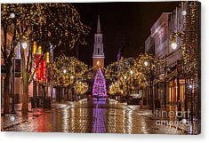 Christmas Time On Church Street. Acrylic Print