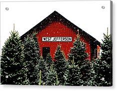Christmas Town Acrylic Print by Dale R Carlson