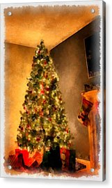 Christmas Tree Acrylic Print by Esoterica Art Agency