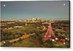 Christmas Tree In Austin Acrylic Print