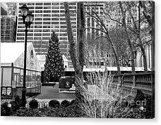 Christmas Tree In Bryant Park Acrylic Print by John Rizzuto
