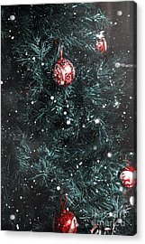 Christmas Tree In Winter Snow. Card Background Acrylic Print by Jorgo Photography - Wall Art Gallery