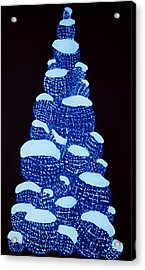 Christmas Tree Light Up Acrylic Print by Nicole  Cris