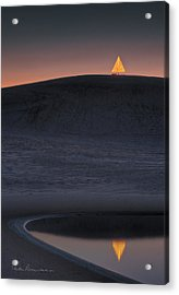 Christmas Tree On Jockey's Ridge 6970 Acrylic Print by Dan Beauvais