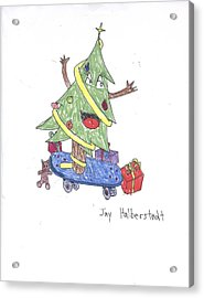 Christmas Tree On Skateboard Acrylic Print