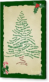 Christmas Tree Thoughts Acrylic Print by Bedros Awak