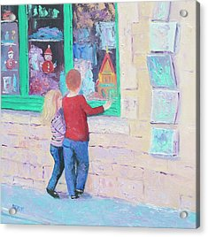 Christmas Window Shopping Acrylic Print