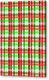 Christmas Wrap Check Acrylic Print