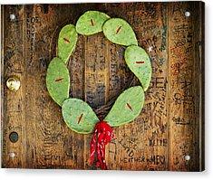 Christmas Wreath Acrylic Print by John Gusky