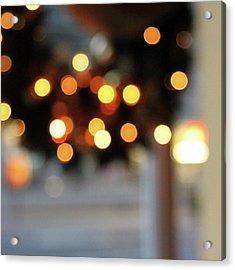 Christmas Wreath- Photography By Linda Woods Acrylic Print