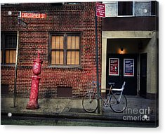 Acrylic Print featuring the photograph Christopher St. Bicycle by Craig J Satterlee
