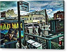 Christopher Street Greenwich Village  Acrylic Print by Joan Reese