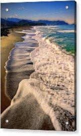 Chromatic Aberration At The Beach Acrylic Print