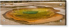 Chromatic Pool At Yellowstone Acrylic Print by John Higby