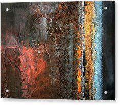 Chromatic Steel Acrylic Print by Rona Black