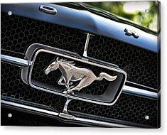 Chrome Stallion - Ford Mustang Acrylic Print by Gordon Dean II
