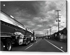 Chrome Tanker Acrylic Print by Theresa Tahara