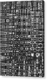 Acrylic Print featuring the photograph Chromosome 22 Bw by Diane E Berry