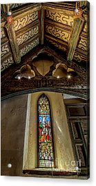 Church Window Acrylic Print by Adrian Evans