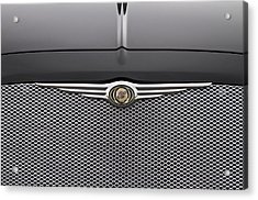 Chrysler 300 Logo And Grill Acrylic Print by James BO  Insogna