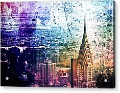 Chrysler Building - Colorful - New York City Acrylic Print by Vivienne Gucwa