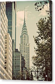 Chrysler Building Acrylic Print by Darren Martin