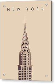 Chrysler Building - Detail Vintage Acrylic Print by Ivan Krpan