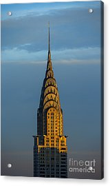 Chrysler Building In The Evening Light Acrylic Print by Diane Diederich