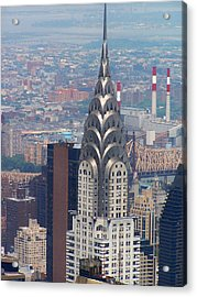 Chrysler Building Acrylic Print by Vijay Sharon Govender