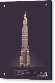 Chrysler Building - Vintage Dark Acrylic Print