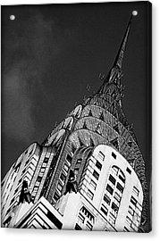 Chrysler Building's Apex Acrylic Print by James Aiken