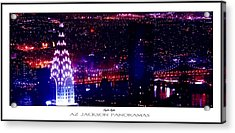 Chrysler Nights Poster Print Acrylic Print