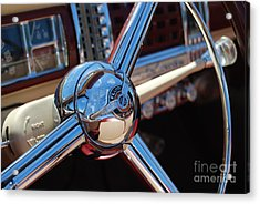 Chrysler Town And Country Steering Wheel Acrylic Print by Larry Keahey