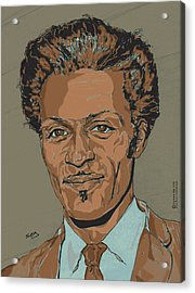 Chuck Berry - Brown-eyed Handsome Man  Acrylic Print by Suzanne Gee