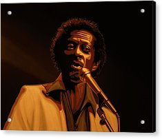 Chuck Berry Gold Acrylic Print