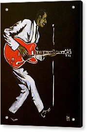 Chuck Berry Acrylic Print by Pete Maier
