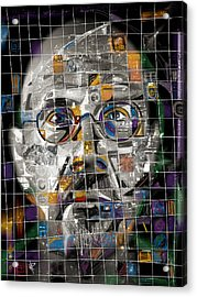 Chuck Close Acrylic Print by Russell Pierce