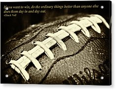 Chuck Noll - Pittsburgh Steelers Quote Acrylic Print by David Patterson