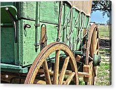 Chuck Wagon Wheels Acrylic Print