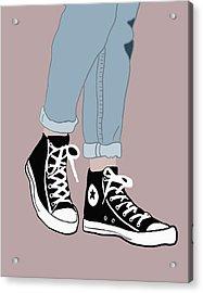 Chucks Acrylic Print by Nicole Wilson