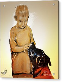 Chuey And Me II Acrylic Print by Arne Hansen