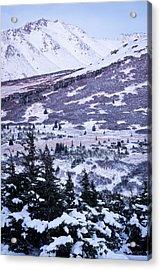 Chugach In Alpenglow Acrylic Print