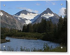 Chugach Mountains Acrylic Print by Dave Clark