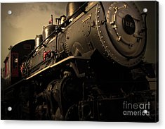 Chugging Across America In The Age Of Steam . Golden Cut . 7d12980 Acrylic Print by Wingsdomain Art and Photography