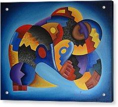 Chujllas Mayu Apu Acrylic Print by Fernando  Ocampo Sandy