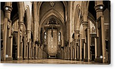 Church Aisle Acrylic Print