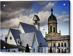 Church And Courthouse Acrylic Print